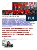 Noticias Uruguayas miércoles 25 de diciembre del 2013