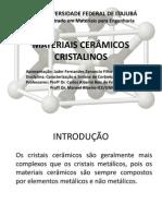 MATERIAIS CERÂMICOS CRISTALINOS-Seminário CMM19.ppt