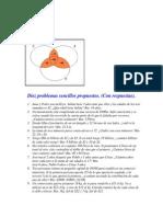 Diez Problemas Sencillos Propuestos