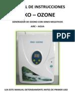 Manual Oko Ozono Hogar