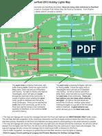 Deerfield Holiday Lights Map 2013