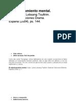 Lama Lobsang Tsultrim, El Adiestramiento Mental