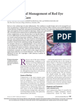 Diagnosis and Management of Red Eye