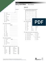 Vocabulary-EXTRA NI 1 Units 1-2 Revision