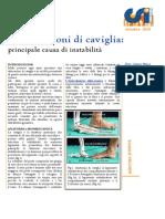 Le Distorsioni Di Caviglia Principale Causa Di Instabilita