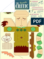 The Critic Papercraft by Glen Brogan