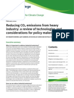 Reducing CO2 Emissions From Heavy Industry