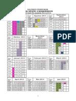 Kalender Pendidikan (4 Kali Kertas Putih)