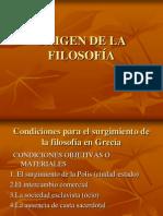 ORIGEN DE LA FILOSOFÍA