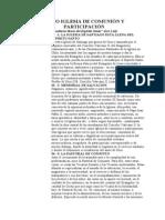 COMO IGLESIA DE COMUNIÓN Y PARTICIPACIÓN
