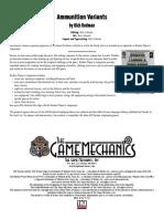 Ammo Variant Info