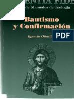 Bautismo y Confirmación, Ignacio Oñatibia. BAC, 2000