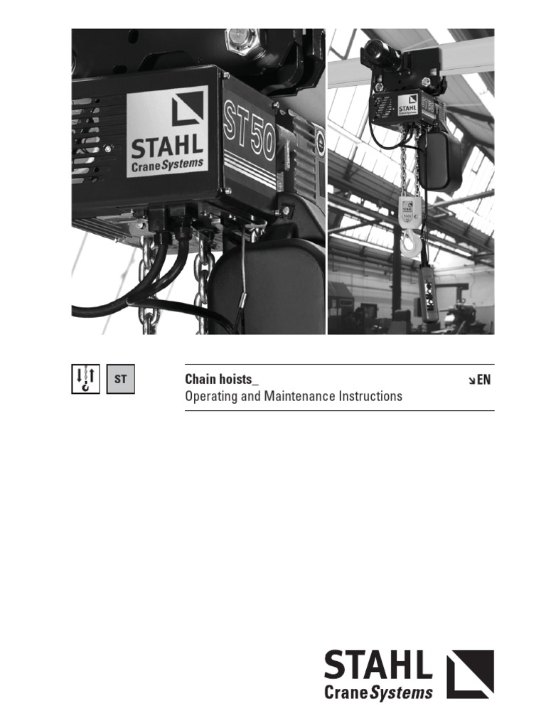 Stahl Crane Service Manual Holidays Sbp2 Pendant Wiring Diagram New Operating In Instruction Chain Hoist