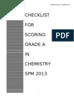 Checklist Chemistry 2013