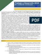 Plan de Trabajo y Desarrollo 2010 - Versión Profesores Piloto