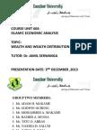 Wealth Distribution in Islam by Adam Hamza