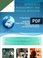 MTKM 5013 Global Social Responsibility