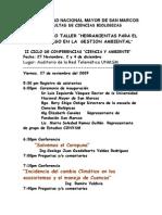 II Ciclo de Conferencias Ciencia y Ambiente