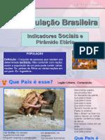 População Brasileira -Indicadores Sociais e Pirâmide Etária