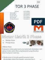 Presentasi Motor Listrik 3 Phasa