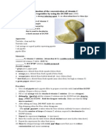 Determination of the Concentration of Vitamin C by Using the DCPIP Test
