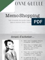 FTS Memo Shopping BonneGueule