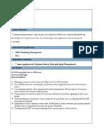 Resume Format for Bank Jobs PDF