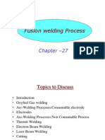 Fusion Welding Process, Chapter 27