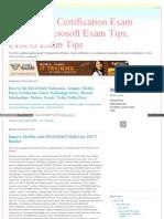 Exam Tips, Certification Exam Guides, Microsoft Exam Tips, CISCO Exam Tips