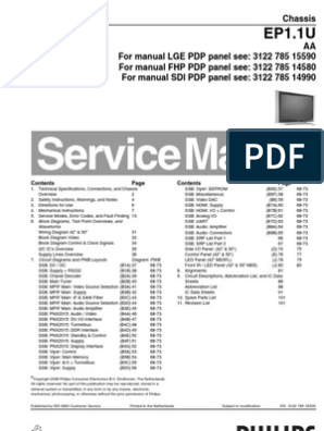 PHILIPS Chassis EP1 1U AA Service Manual | Computer Engineering