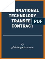 INTERNATIONAL TECHNOLOGY TRANSFER CONTRACT SAMPLE