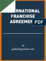 INTERNATIONAL FRANCHISE AGREEMENT TEMPLATE