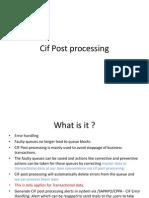 Cif Post Processing