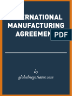 INTERNATIONAL MANUFACTURING AGREEMENT TEMPLATE