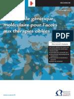 Les Tests de Genetique Moleculaire Pour Lacces Aux Therapies Ciblees en 2012