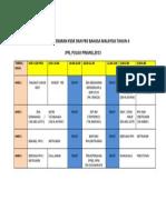 Jadual Penyebaran Kssr Dan Pbs Bahasa Malaysia Tahun 4