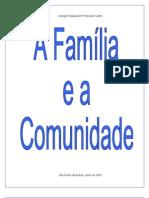 TRABALHO DE PRÁTICA PEDAGÓGICA - FAMILIA E COMUNIDADE