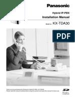 panasonic tda30 installation manual