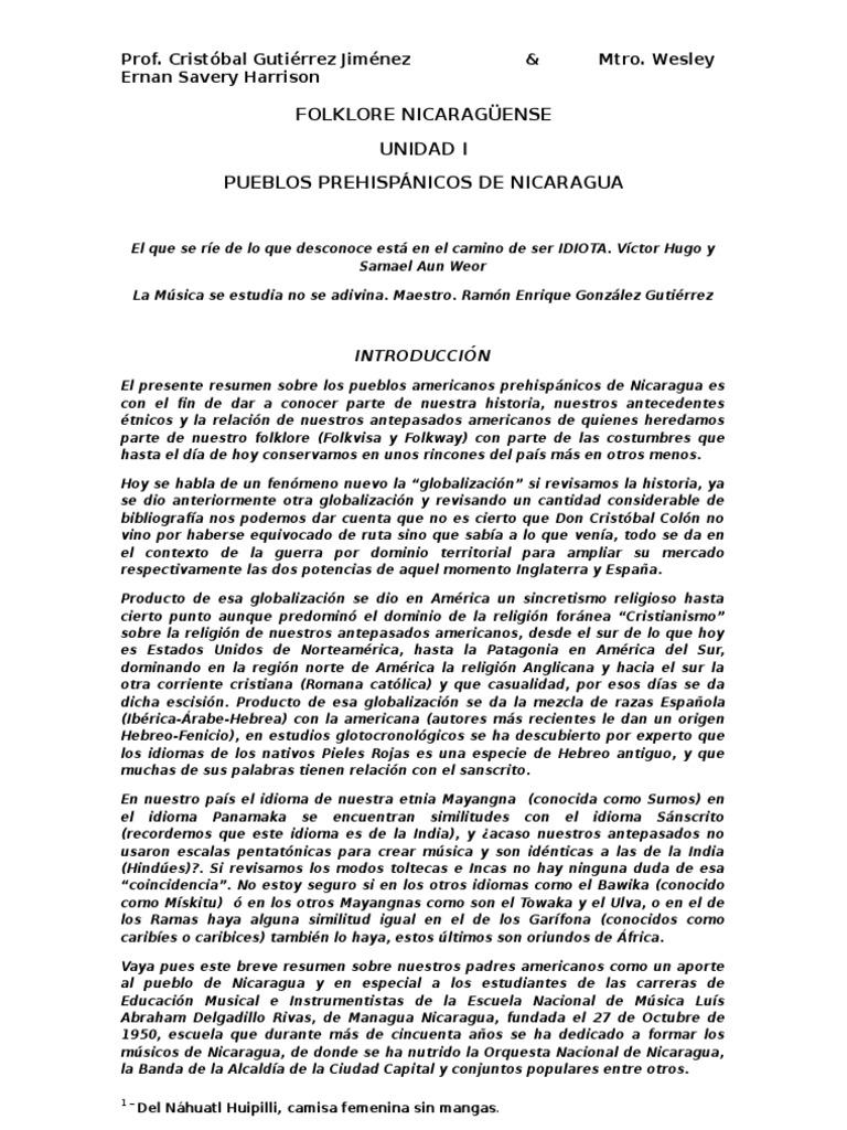 Unidad Unidad Folklore Nicaragüense Nicaragüense IIiNicaragua Folklore TKJ5uFlc13