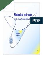 Kuliah#01 - Ekstraksi Cair-Cair (LLE) Dan Padat-Cair (Leaching)