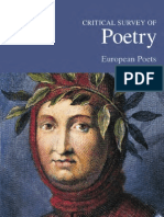 Critical Survey of Poetry - European Poets
