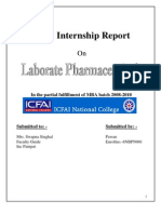 Internship Report on laborate pharmaceuticals india ltd.