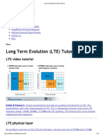Long Term Evolution (LTE) Tutorials
