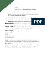 Properties of Measurement Scale
