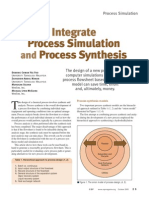 Integrate Process Simulation and Process Synthesis
