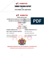 Customer Awareness of Hero-motocorp Anurum Report