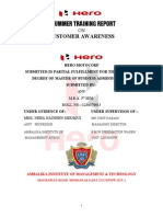 Front Customer Awareness of Hero-motocorp Anurum Report