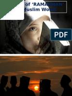Month of Ramzan in Muslim World