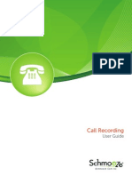Call Recording Module UserGuide