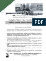 UFF 2009 Prova AnalistaTecnologiaInformacao